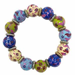 Angela Moore Painted Bead Bracelet